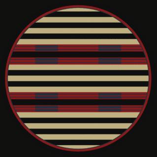 chief stripe 8ft round rug
