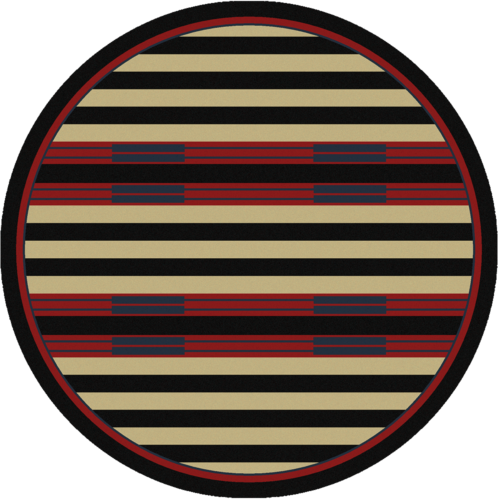 chief stripe 8ft round rug