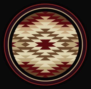 starburst red 8ft round rug