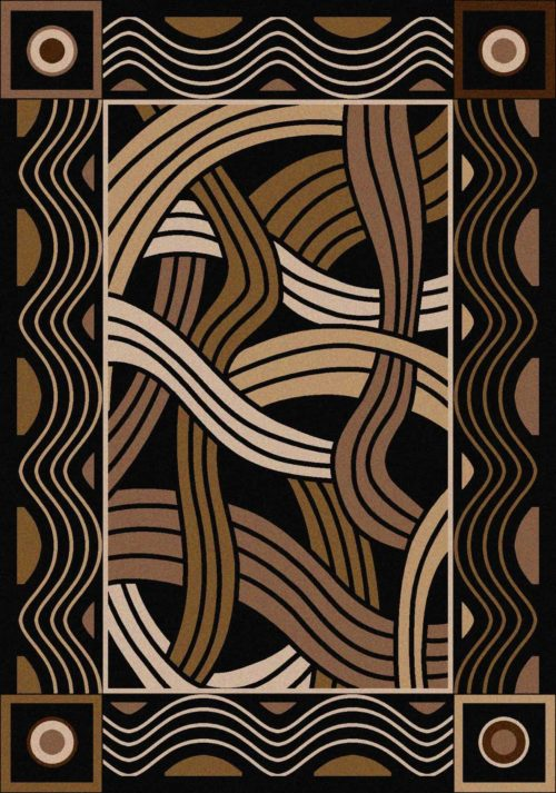 hand coiled black rug