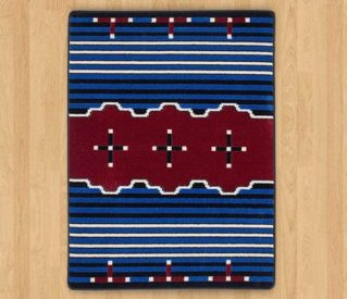big chief blue rug