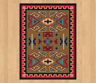 four rams bright rug