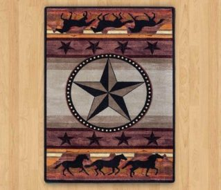 night stampede desert rug