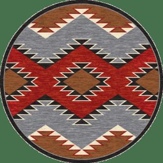 heritage multi 8ft round rug