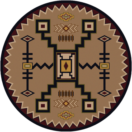thunderstorm mid 8ft round rug