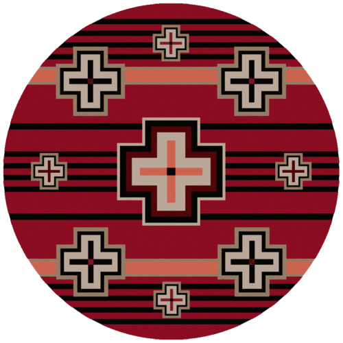 bounty red 8ft round rug