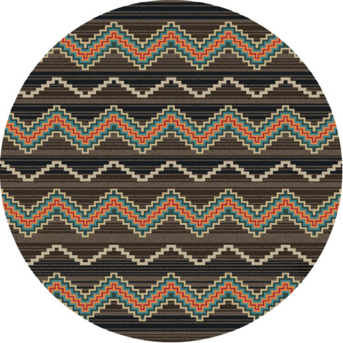 trapper brown 8ft round rug