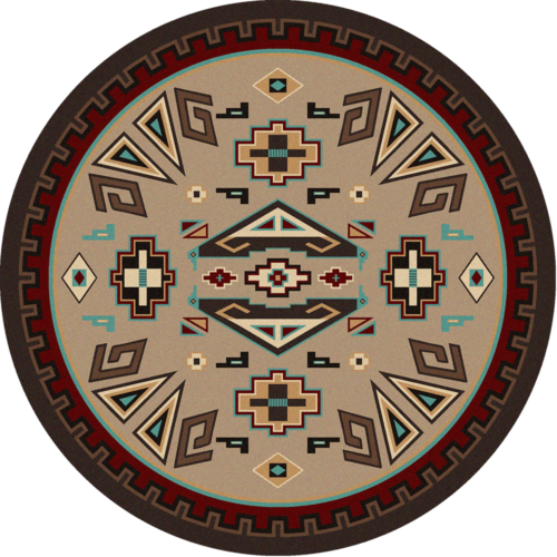 Butte Southwest 8ft Round Rug