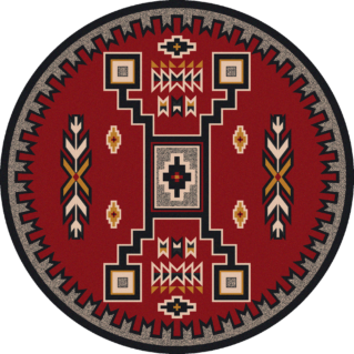 old crow red 8ft round