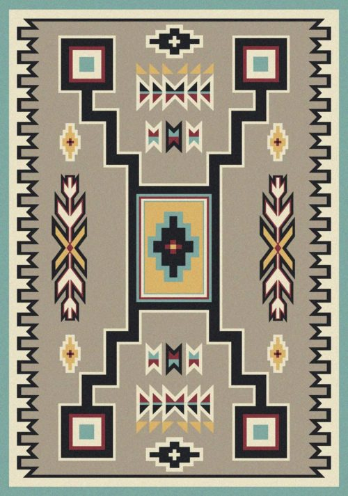 old crow suede turquoise rug