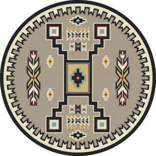old crow suede turquoise 8ft round rug