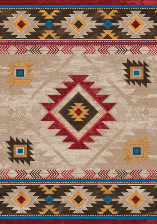 whiskey river natural rug