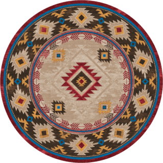 whiskey river natural 8ft round rug