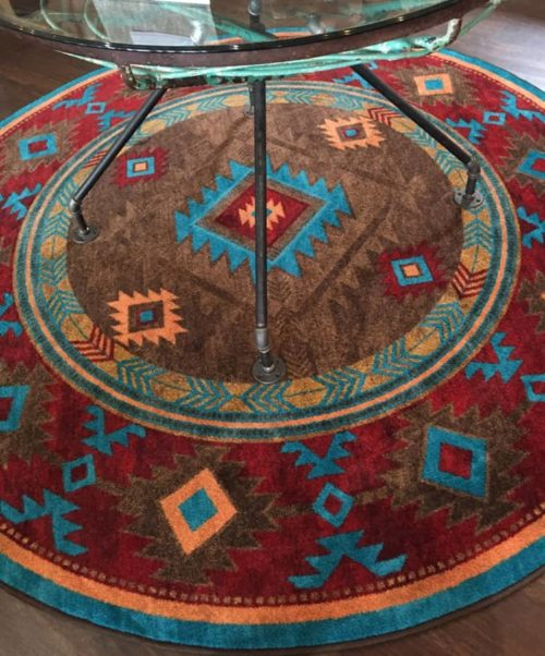 Whiskey River Turquoise Rug - On Sale