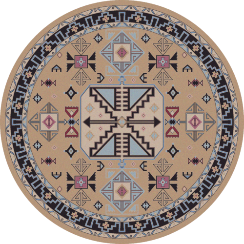 Copper Canyon 8ft Round Rug