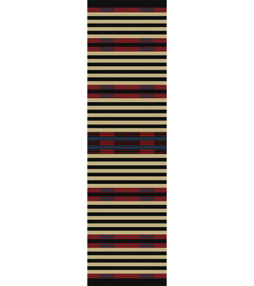 chief stripe 2x8 rug