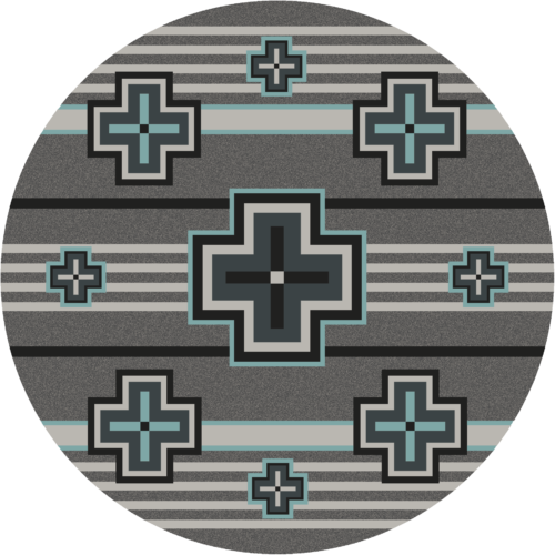 bounty flint turquoise rug 8ft round