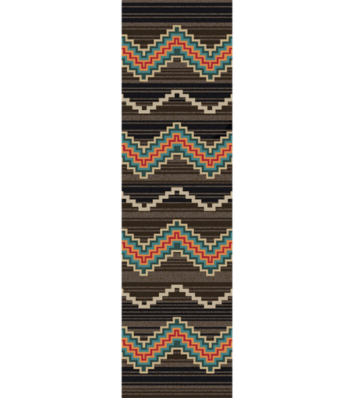 trapper brown rug 2x8