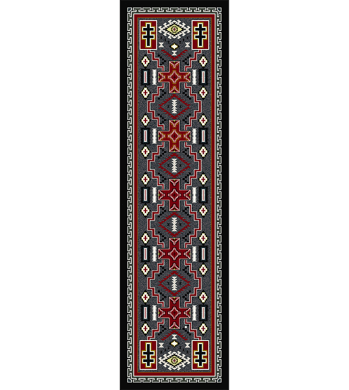 double cross 2x8 rug