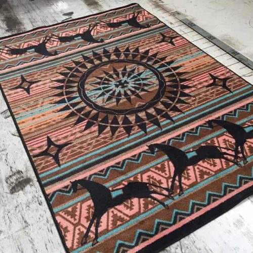 ghost rider turquoise rug scene