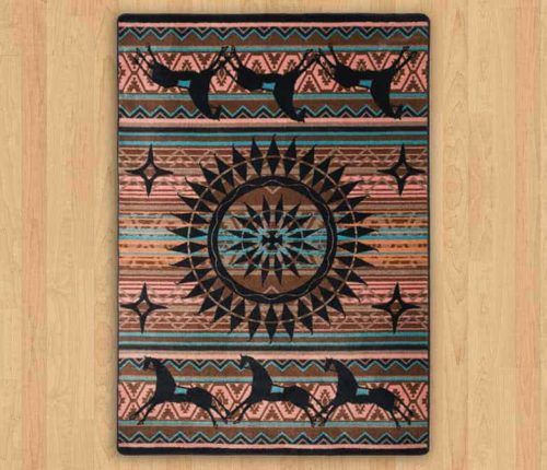 ghost rider turquoise rug