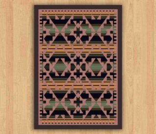 saddle blanket periwinkle rug