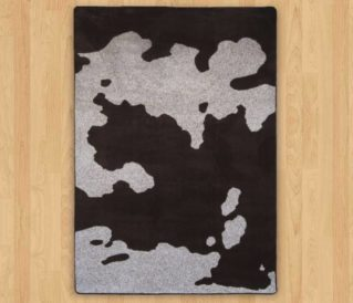 cowhide chocolate american dakota rug