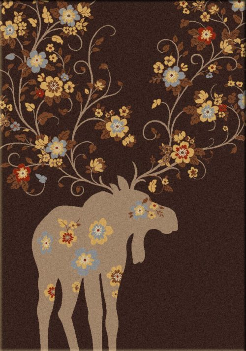 moose blossom chocolate rug
