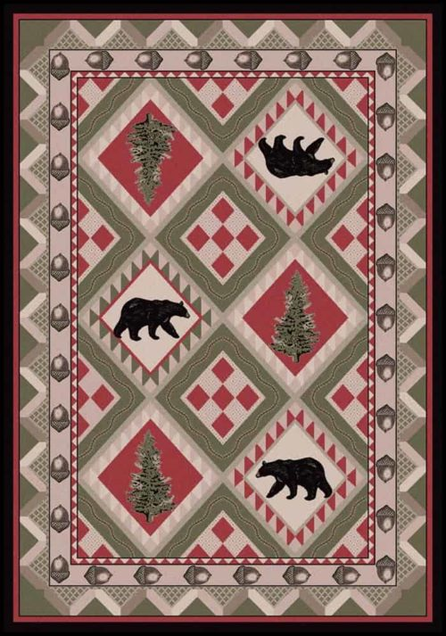 quilted forest pine rug