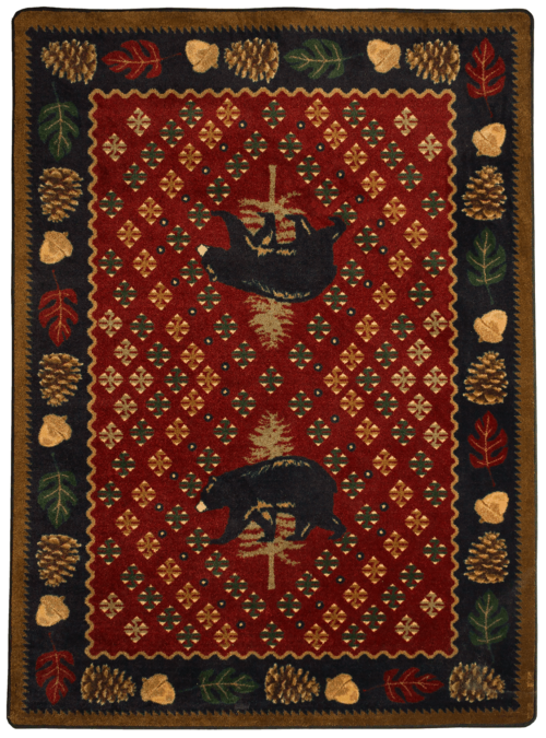 Patchwork Bear Red rug