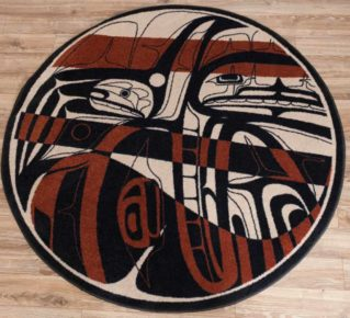 northern stripes red and black rug