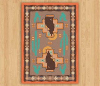 howl at the moon rug