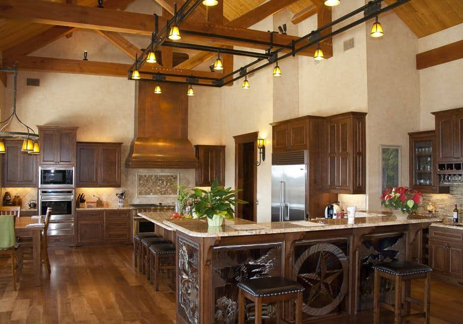 Spread The Cowboy Ambiance By Using Your Walls, Furniture, Lighting, Window  Treatments, And Accessories. Western Kitchen
