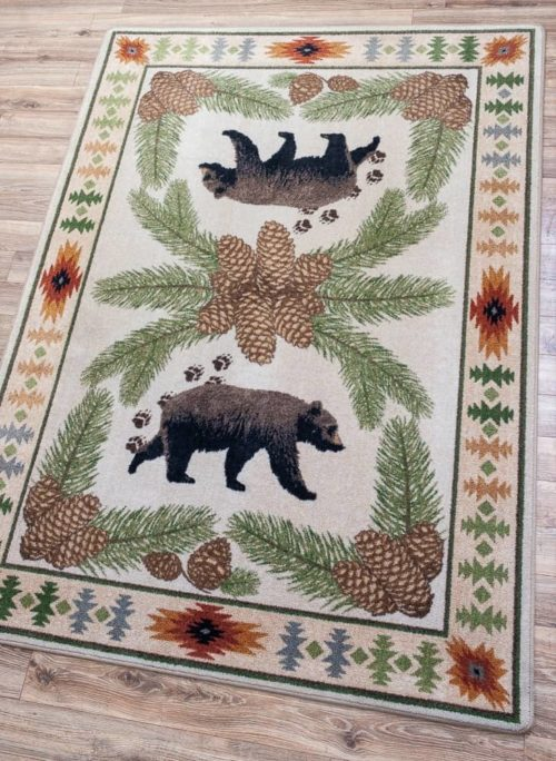 camp woodhaven natural rug