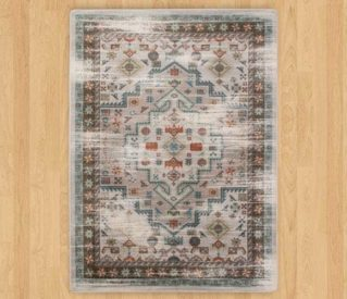 persian version light distressed rug