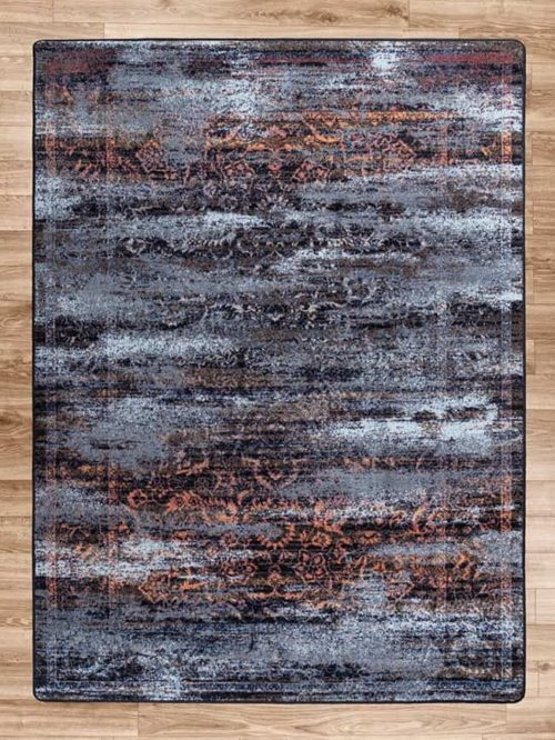 montreal distressed elements area rug