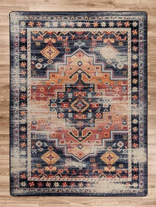 persian version distressed sunset area rug