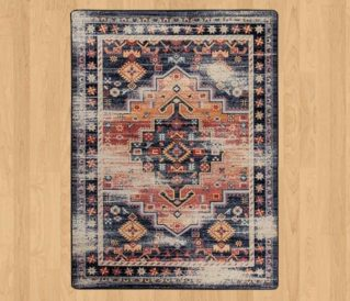 persian version distressed sunset rug