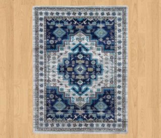 persian version dusk blue rug