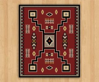old crow red 11x13ft rug