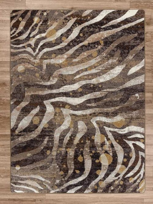 modern zebra gold splash rug