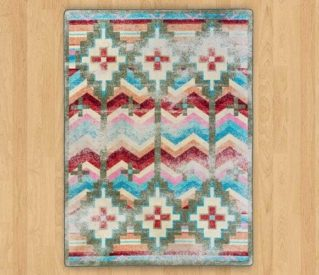shake your shawl distressed bright rug