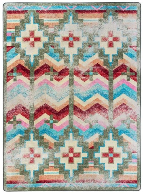 shake your shawl distressed bright area rug