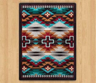 rustic cross electric rug