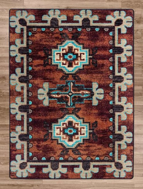 badlands rust area rug