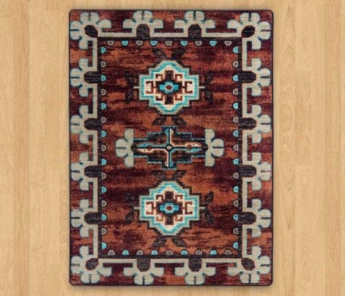 badlands rust rug