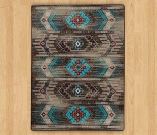 carlsbad distressed turquoise rug