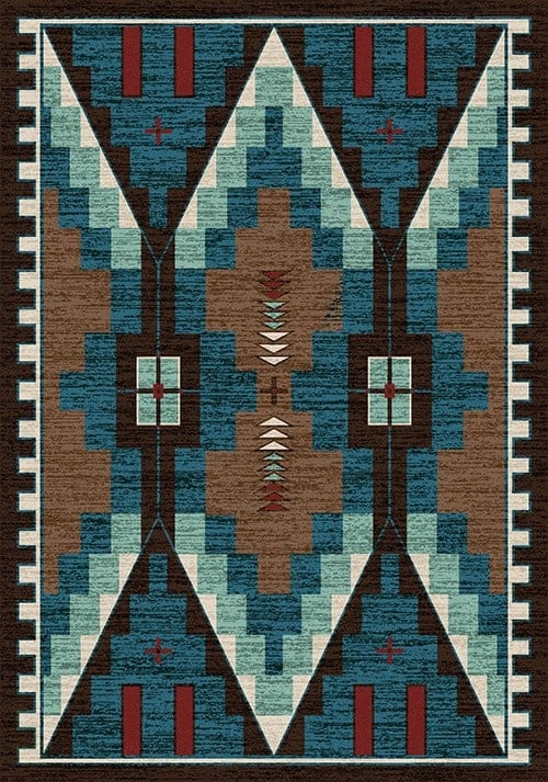 two towers turquoise skyhawk rug