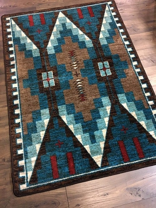 two towers turquoise skyhawk area rug