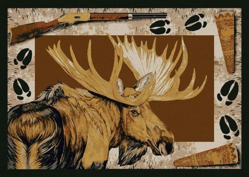 Moose Call Brown skyhawk rug